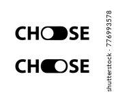 choose icon. toggle sign....