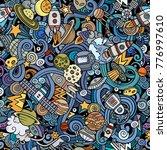 cartoon cute doodles space... | Shutterstock .eps vector #776997610