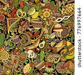 cartoon cute doodles latin... | Shutterstock .eps vector #776997664
