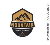 mountain logo  elegant mountain ... | Shutterstock .eps vector #777001870
