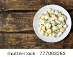 potato salad with eggs and... | Shutterstock . vector #777003283