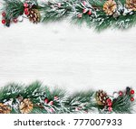 christmas and new year's... | Shutterstock . vector #777007933
