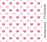 hearts seamless pattern for... | Shutterstock .eps vector #777010234