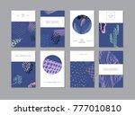 set of creative universal... | Shutterstock . vector #777010810