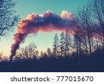 retro filtered plume of fire...   Shutterstock . vector #777015670