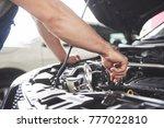 close up hands of...   Shutterstock . vector #777022810
