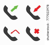 contact icon set incoming... | Shutterstock .eps vector #777022978