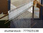 thai traditional silk hand... | Shutterstock . vector #777025138