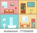 furnishing interior rooms on... | Shutterstock . vector #777026020