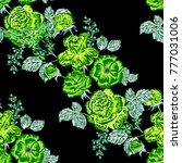 rose seamless pattern.... | Shutterstock .eps vector #777031006
