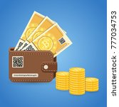 crypto currency bitcoin... | Shutterstock .eps vector #777034753