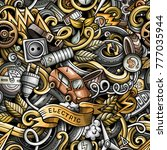 cartoon cute doodles electric...   Shutterstock .eps vector #777035944