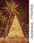 the small town christmas tree... | Shutterstock . vector #777037540