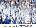 silver serpentine shiny glitter ...   Shutterstock . vector #777041368