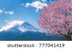 fuji mountain and cherry... | Shutterstock . vector #777041419
