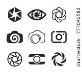 photographer logo design ... | Shutterstock .eps vector #777042583