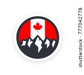canada symbol with mountains... | Shutterstock .eps vector #777042778