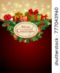 christmas festive backgroung... | Shutterstock .eps vector #777043960