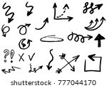 doodle arrows hand drawn | Shutterstock .eps vector #777044170