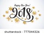 2018 hand written lettering... | Shutterstock .eps vector #777044326