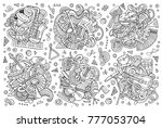 line art vector hand drawn...   Shutterstock .eps vector #777053704