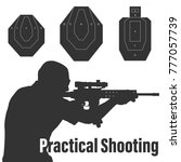 practical shooting man aiming... | Shutterstock .eps vector #777057739