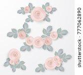 floral frame collection. set of ... | Shutterstock .eps vector #777062890