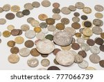 vintage collectible coins on a...