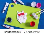 funny crafts from salted dough... | Shutterstock . vector #777066940