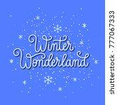 christmas spirit blue winter... | Shutterstock .eps vector #777067333