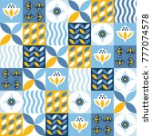 seamless pattern with... | Shutterstock .eps vector #777074578