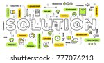 business solution concept.... | Shutterstock .eps vector #777076213