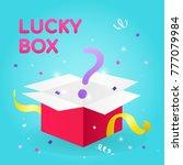 lucky box vector illustration ... | Shutterstock .eps vector #777079984