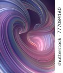 colored abstract twisted shape. ... | Shutterstock . vector #777084160