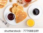 valentine's day breakfast or...   Shutterstock . vector #777088189