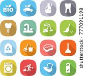 flat vector icon set   bio... | Shutterstock .eps vector #777091198