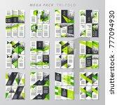 mega pack green tri fold design ... | Shutterstock .eps vector #777094930