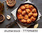 meatballs with tomato sauce in... | Shutterstock . vector #777096850
