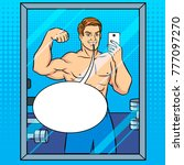 body builder guy is making... | Shutterstock .eps vector #777097270