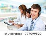 group customer service workers | Shutterstock . vector #777099520