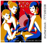 retro party invitation card....   Shutterstock .eps vector #777100108