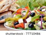 delicious mixed greek salad   Shutterstock . vector #77710486
