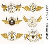 vintage decorative heraldic... | Shutterstock .eps vector #777111544