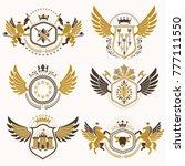 vintage decorative heraldic...   Shutterstock .eps vector #777111550