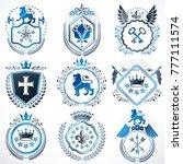 collection of vector heraldic...   Shutterstock .eps vector #777111574