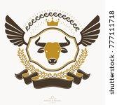 heraldic coat of arms... | Shutterstock .eps vector #777111718