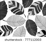 abstract leaves pattern.... | Shutterstock .eps vector #777112003
