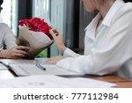 vintage toned image of... | Shutterstock . vector #777112984