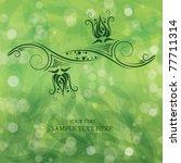 flower background   Shutterstock .eps vector #77711314
