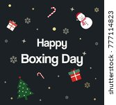 happy boxing day sale... | Shutterstock .eps vector #777114823